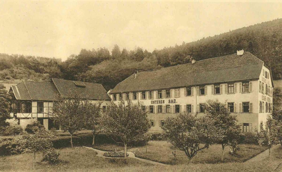 Das Untere Bad um 1900
