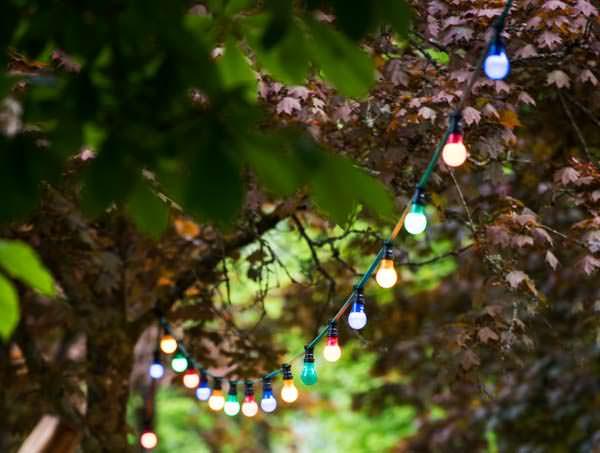 Lichterkette im Kurpark Bad Liebenzell