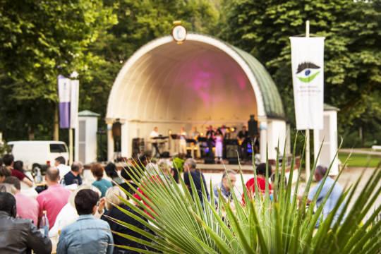 Sommerfest Blick auf die Konzertmuschel