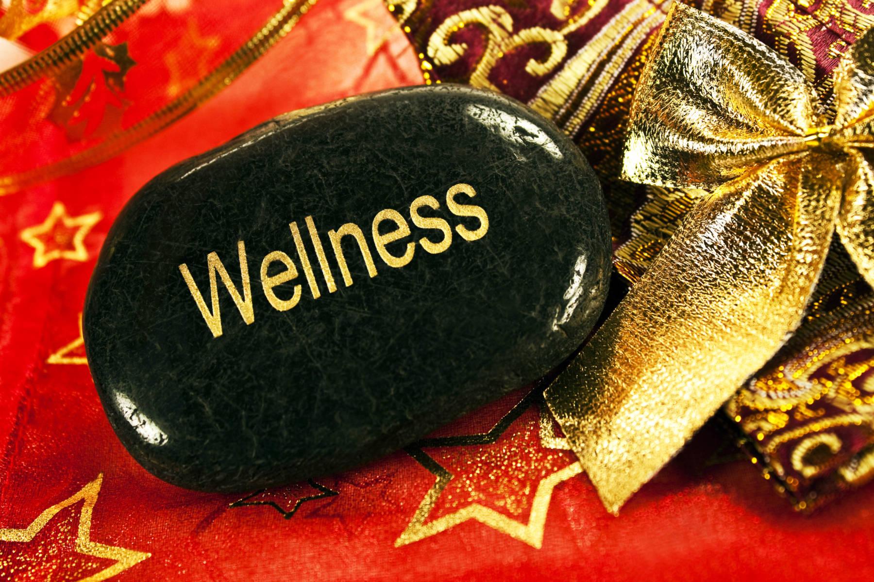Stein mit Wellness Aufschrift